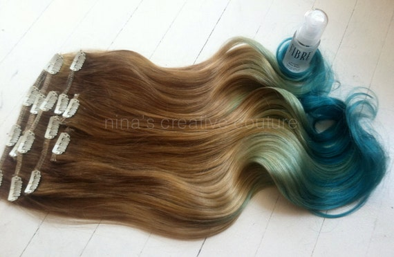 Mermaid Hair, Ombre Hair Extensions, Dark Blonde Ombre Hair, Pastel ...