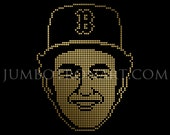 Fred Lynn Jumbotron Art - Limited Edition Gold Foil Print, 12 x12