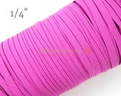"5 or 10 Yards 1/4"" Skinny Elastic - Fuchsia  Color - Fuchsia Skinny Elastic - Fuchsia Elastic - Skinny Elastic -Hair Accessories Supplies"