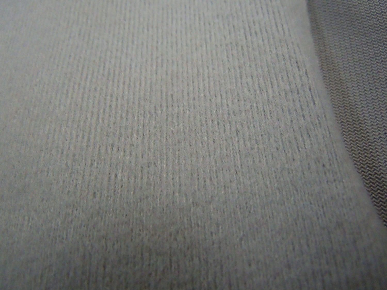 Gray Pajama Fabric Vintage Brushed Nylon Fabric Solid Grey