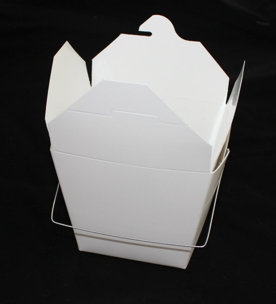 Party Favor Chinese Take Out Boxes : Large white chinese take out boxes for party favors or more