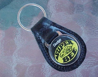 Dodge Super Bee MOPAR Muscle Car Leather Key Fob New Old Stock Mint Condition Never Used Now A Rare Collectible