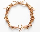 Antler Wreath, Wreath, Gold Antler Wreath, Antlers, Antler Decor, Woodland, Antler, Housewarming, Gold Wreath, Deer Antler, Hodi Home Decor