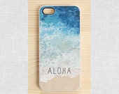iPhone 6 case, iPhone 4 case, iPhone 4S case, Samsung galaxy S5 and S3 case - aloha blue ocean