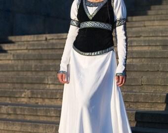 "Medieval Vest ""Chess Queen""; suede vest; medieval vest; ren vest; black vest; medieval waistcoat; ren waistcoat"