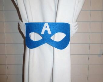 Superhero Curtain Tie-backs Set of 2