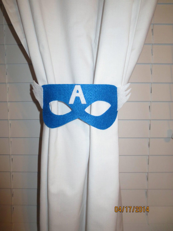 Superhero curtain tie backs set of 2 - Captain america curtains ...