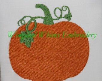 Pumpkin Design Digitized Machine Embroidery