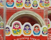 Matryoshka  Russian Doll Japanese Die Cut Washi Tape Masking Tape Paper Tape (MDT01-08)