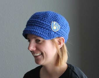 Milwaukee Brewers Baseball Newsboy Hat