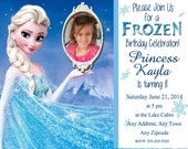 Personalized Frozen Birthday Party Invitation ELSA 4x6 or 5x7 Digital File- with option to add own photo
