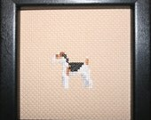Fox Terrier Wired Cross Stitched Full Body Dog.