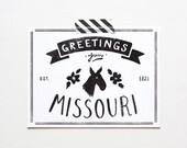 State of Missouri Postcard