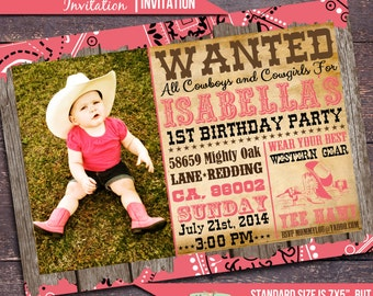 Girls Western Party Invitation, Cowgirl Party Invitation, Horse Party, Cowgirl Birthday Invitation, Birthday Invitation Bloomberry Designs