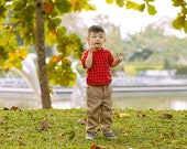 Boys/ Toddler Red Check T-Shirt