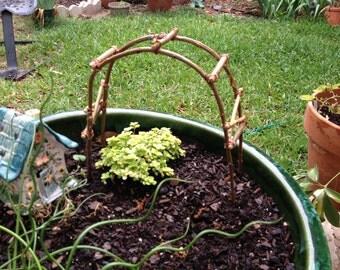 Miniature Fairy Garden Arbor