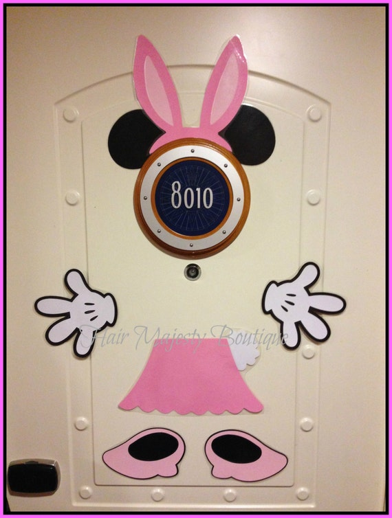 Minnie Mouse Bunny Body Part Cruise Door By