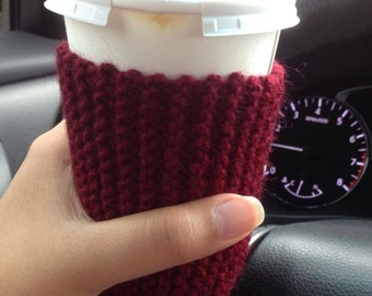Eco friendly coffee cup sleeve hot or cold