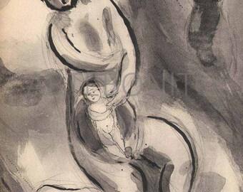 "Chagall ""L'avare Dupe"" - Verve 1950"