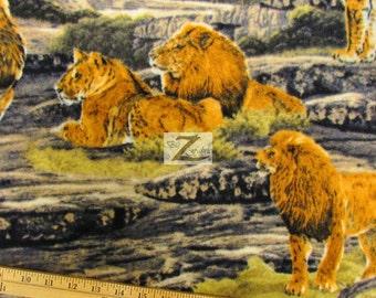 Lion Print Fabric Etsy