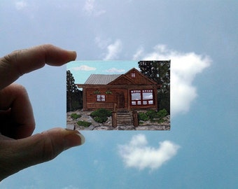 2 x 3 Micro Miniature House Portrait Painting of Your Home