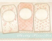 Shabby gift tags Printable download on Digital collage sheet Vintage images Instant download Paper goods - SHABBY GIFT TAGS