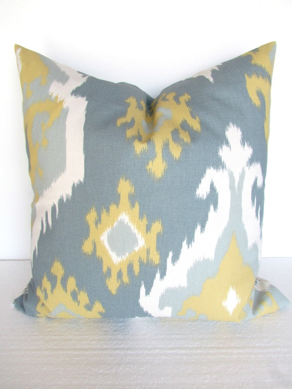 Throw Pillows Groupon : GRAY And Yellow PILLOWS Yellow Decorative Throw Pillow Covers