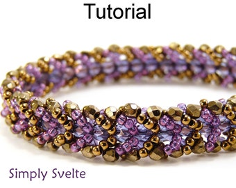 Beading Tutorial Pattern Bracelet - Flat Spiral Stitch - Simple Bead Patterns - Simply Svelte #4511