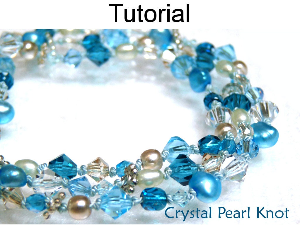 beading pattern tutorial pearl knotting simple bead