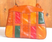 Vintage & Retro Handbags, Purses, Wallets, Bags Vintage 1970s 70s  Faux Leather Patchwork Shoulder Bag Retro Handbag in excellent vintage condition $19.00 AT vintagedancer.com