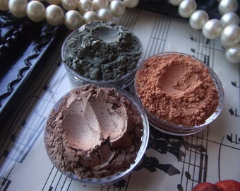 Rustic Pumpkin Collection Three Eyeshadows Organic Vegan Stacker Jar