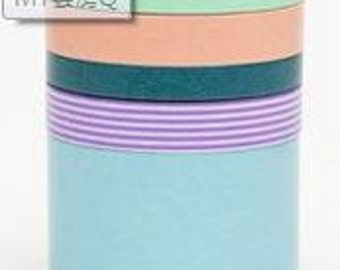 mt new suite Masking Tape /  Japanese Washi Masking Tape / mt new suite Q / MT05S017 / 5 roll of set