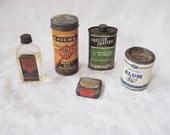 reserved Collection of antique medicinal bottles and containers, vintage advertising, Mend Rite, vintage tire patch, medicine, collectible