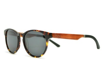 Tortoise Sunglasses, Handmade Wooden Sunglasses, Made With Real Wood - VLY-TRT