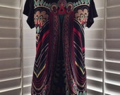 SALE!  50% OFF! Vintage 1970s Art Deco Print Shirt