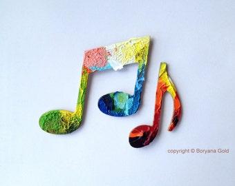 MUSIC NOTES, fridge magnets by Boryana Gold