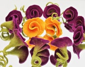 Roses in purple noble Patches for the dress material for cornet Rose for Rose brooch as a hair accessories Rose for bride