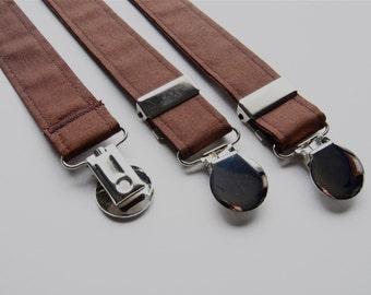 Suspenders - Brown Adjustable Suspenders