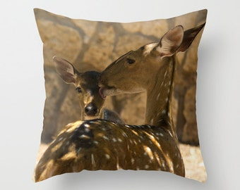 Art Pillow, Throw Pillow, Deer, Art, Animal, Photo Cover, Pillow Cover, Colorful, Colors, Pattern, Set, Throw Pillow Set, Art Cover Pillow