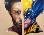 Wolverine/Hugh Jackman Prisma Colored Pencil Portrait: One of a Kind Reese Hilburn Art