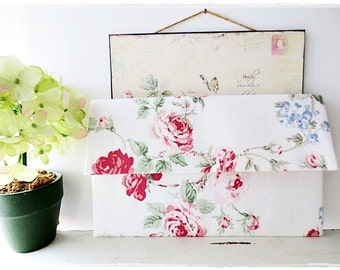 Bridesmaids large envelope clutch white clutch big red rose evening purse