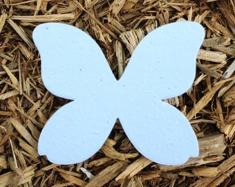 "10, 4"" Butterfly Plantable Seeded Paper Shape Favors 3.2"" x 4"", Available in 39 Colors"