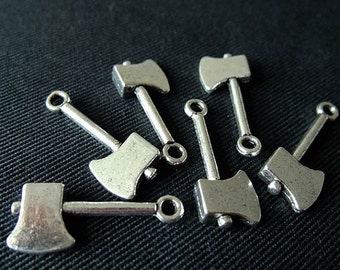 24pcs dark silver Axe Hatchet charms  H3103