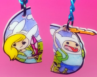 Adventure Time Fiona and Finn Key chains