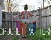 Crochet Pattern - Sari Silk Fringe Overskirt