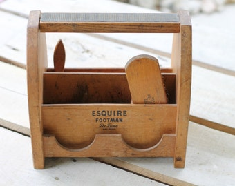 Antique Esquire Shoe Shining Caddy