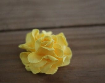 "2"" Upcycled T-Shirt Flower With Snap Clip (Yellow Pictured)"