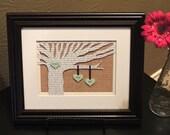 Personalized Wedding Gift - Wedding Song Lyrics 3D Paper Tree - 8x10 Frame Optional