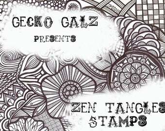 Zen Tangles Digital Stamp Set