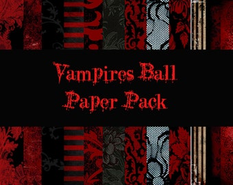 Vampires Ball Digital Paper Pack